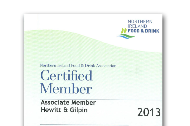 Hewitt & Gilpin Join The Northern Ireland Food and Drink Association